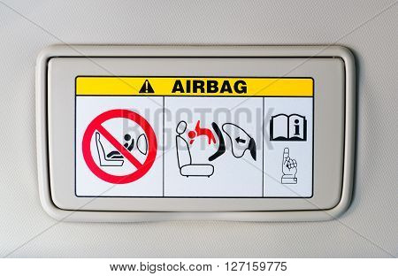 The air bag sign-how to use in the Vehicles