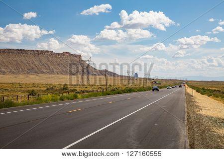 Highway U.S. Route 162 in summer 2015
