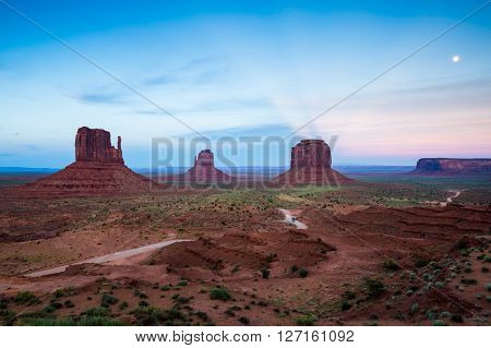 Monument Valley Area In Utah, Usa