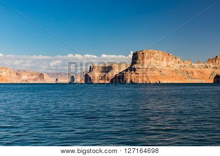 View Of The Glen Canyon On The Lake Powell From Boat, Utah