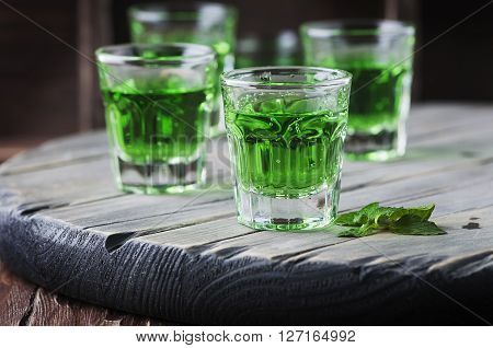 Green Healthy Cocktai With Terragonl