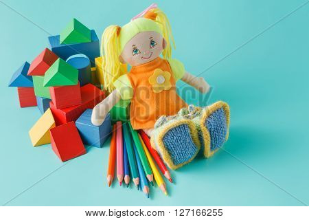 Doll With Colored Pencils