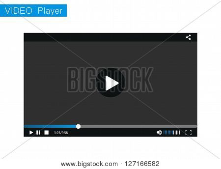 Video Player. Video Player mockup. Video Player for web site.