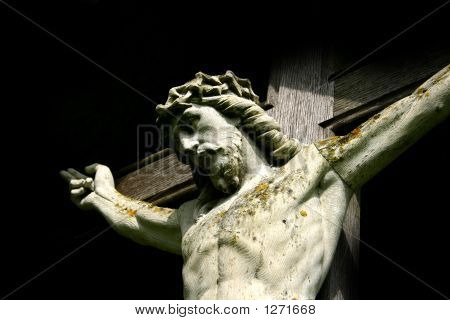 Bust Of Christ On The Cross