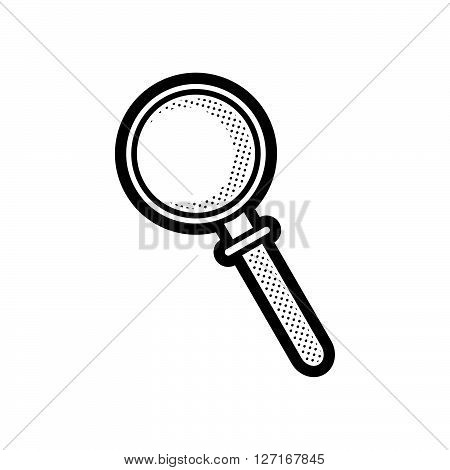 Medical Device Icon Magnifier glass vector design EPS10.