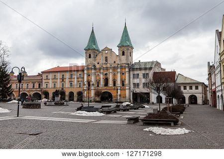 Main Square In The City Centre Of Zilina
