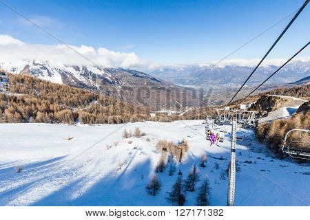 Ski Resort Les Orres, Hautes-alpes, France