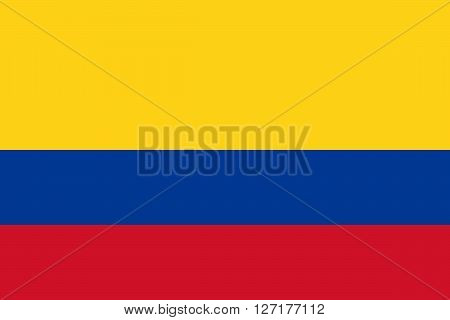 Flag of Colombia in correct proportions and colors