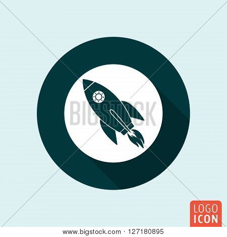 Rocket icon. Rocket launch symbol. Vector illustration
