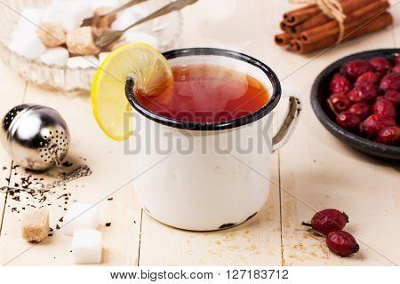 Vintage Mug Of Tea