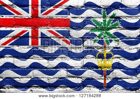 Flag Of British Indian Ocean Territory, Painted On Brick Wall