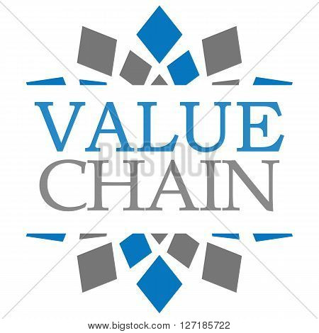 Value Chain text over blue grey background.