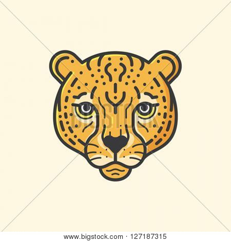 Cheetah head illustration