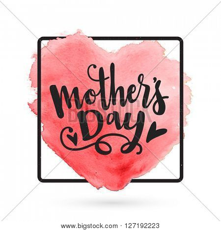 Mother\'s Day typographical background with creative heart. Elegant greeting card design for Mother\'s