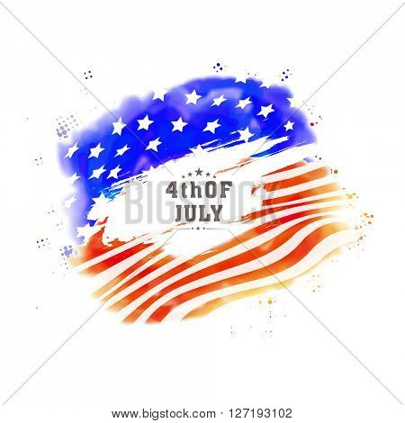 American National Flag colors Poster, Banner or Flyer design for 4th of July, Independence Day celebration.