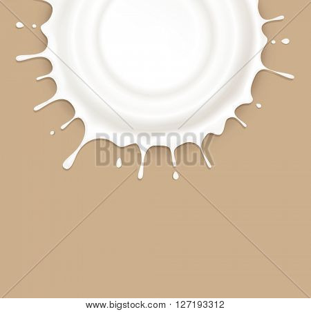 isolated splash of sour cream on a brown background(JPEG Version)