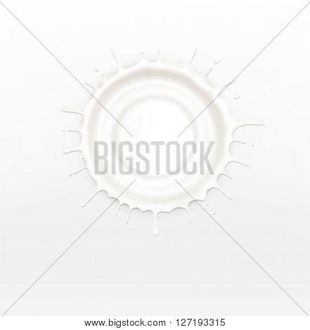 isolated splash of sour cream(JPEG Version)