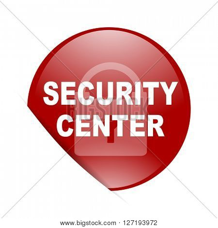 security center red circle glossy web icon