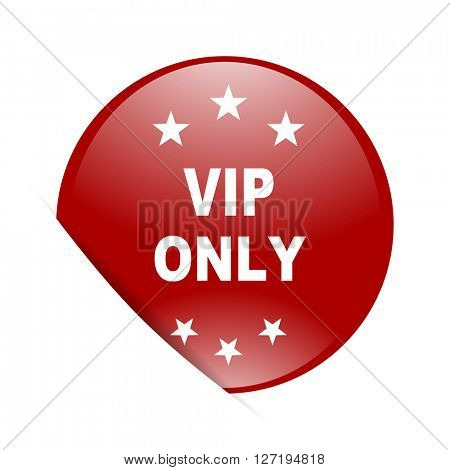 vip only red circle glossy web icon