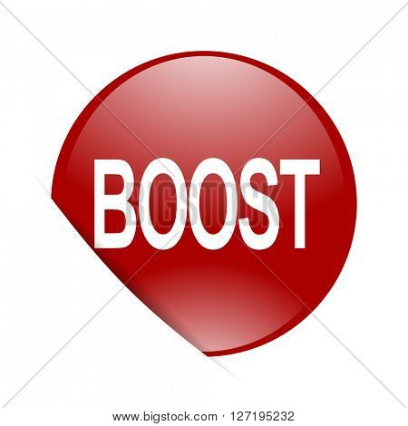 boost red circle glossy web icon