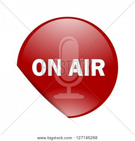 on air red circle glossy web icon