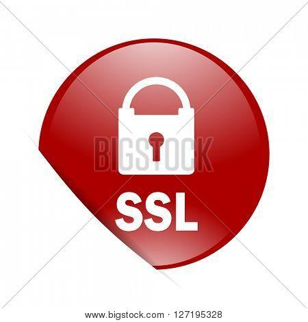 ssl red circle glossy web icon