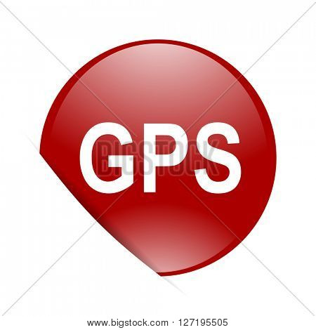 gps red circle glossy web icon