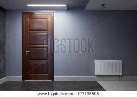 Interior.a Wall With A Door