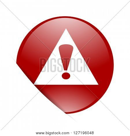 exclamation sign red circle glossy web icon