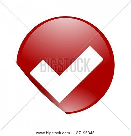 accept red circle glossy web icon