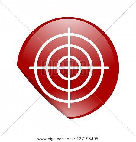 target red circle glossy web icon