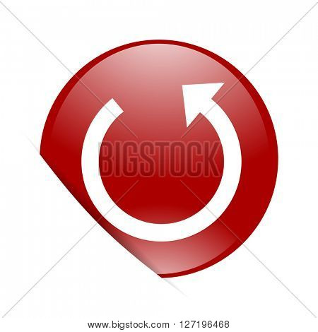 rotate red circle glossy web icon