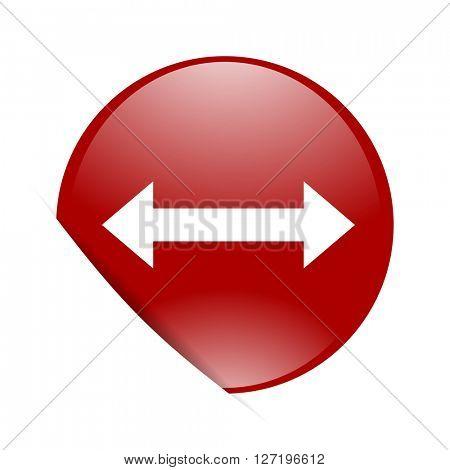 arrow red circle glossy web icon