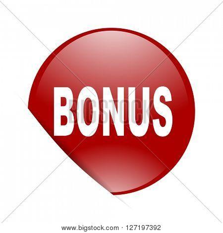 bonus red circle glossy web icon