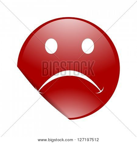 cry red circle glossy web icon
