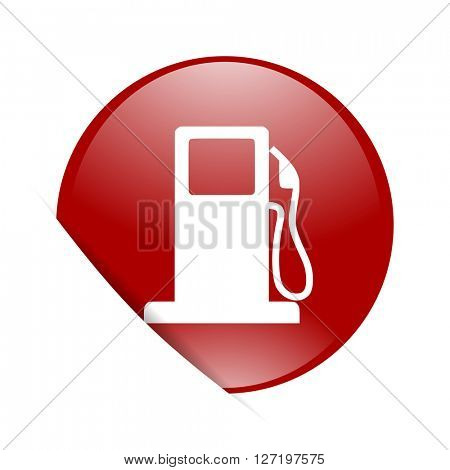 petrol red circle glossy web icon
