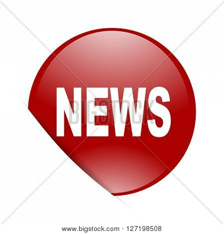 news red circle glossy web icon
