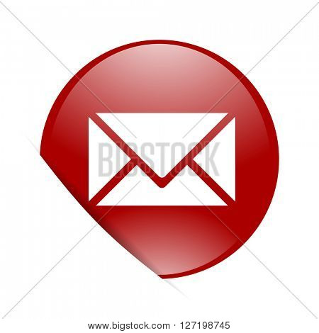 email red circle glossy web icon