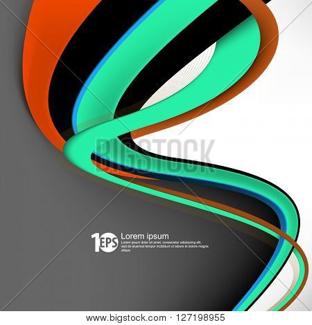 abstract waving lines. eps10 vector