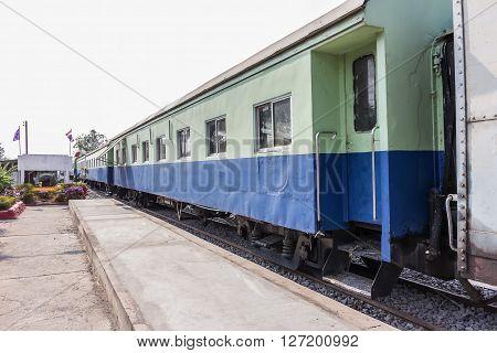Between Bogie Of A Public Thai Train Railway