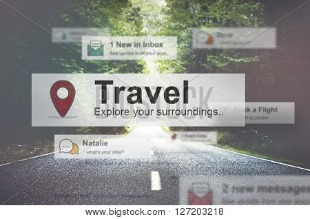 Travel Destination Journey Vacation Trip Concept
