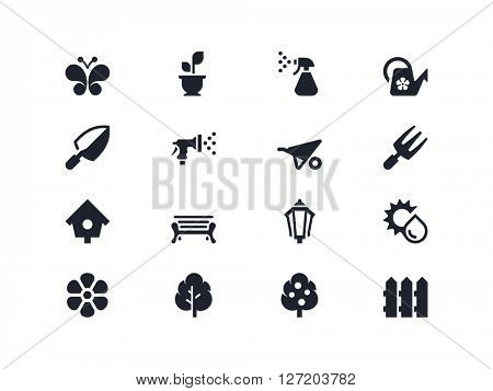 Gardening and plants care icons. Lyra series