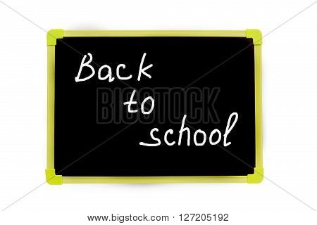 Inscription Back To School On The Blackboard, Ready Graphics
