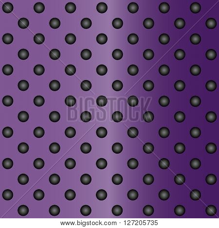 High resolution concept conceptual violet or purple metal stainless steel aluminum perforated pattern texture mesh background
