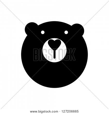 Bear animal sign. Bear mascot idea for logo, emblem, symbol, icon. Vector illustration.