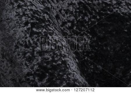 Black Velvet Fabric Swatch