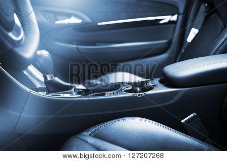 Modern Car Interior Design. Car Front Seats.
