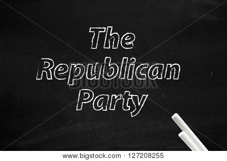 The Republican Party written on board