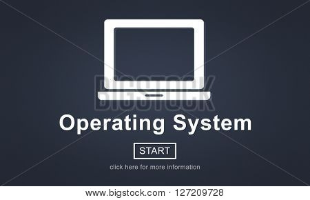Operating System Operate Working Technology Concept