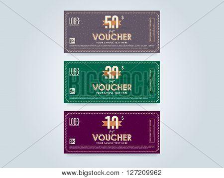 design Discount coupon Special offer voucher Layout voucher – Voucher Design